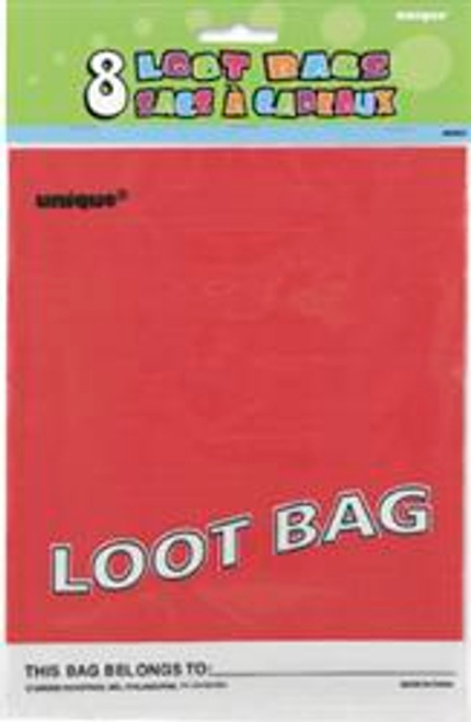 Loot Bags - Red, by Meteor,  and more Partyware at The Professors Online Lolly Shop. (Image Number :5979)