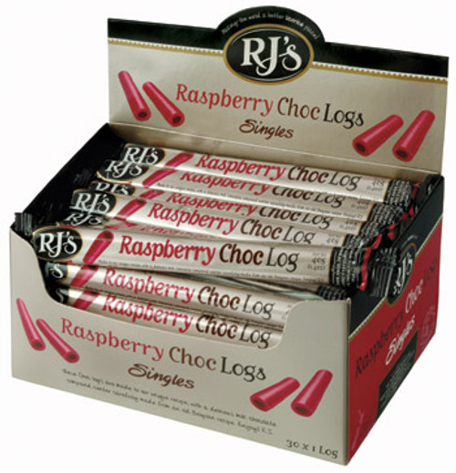 RJ s Raspberry Milk Choc Logs, by RJs,  and more Confectionery at The Professors Online Lolly Shop. (Image Number :6244)