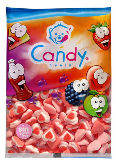 Gummi Spain - Triple Hearts and more Confectionery at The Professors Online Lolly Shop. (Image Number :6312)
