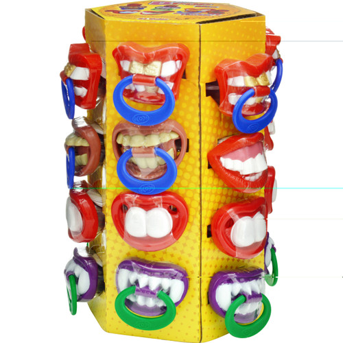 Bpop Crazy Teeth Pacifiers, by Universal Candy,  and more Confectionery at The Professors Online Lolly Shop. (Image Number :6462)