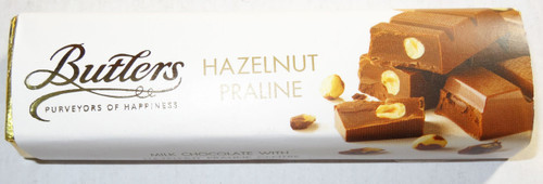 Butlers Hazelnut Praline Bar, by Butlers Chocolates,  and more Confectionery at The Professors Online Lolly Shop. (Image Number :6659)