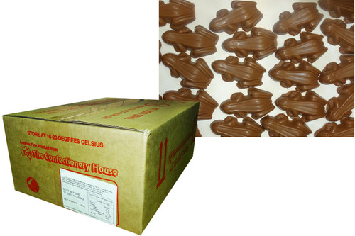 Premium Milk Choc Frogs, by Confectionery House,  and more Confectionery at The Professors Online Lolly Shop. (Image Number :9650)