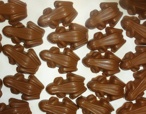 Premium Milk Choc Frogs, by Confectionery House,  and more Confectionery at The Professors Online Lolly Shop. (Image Number :9651)