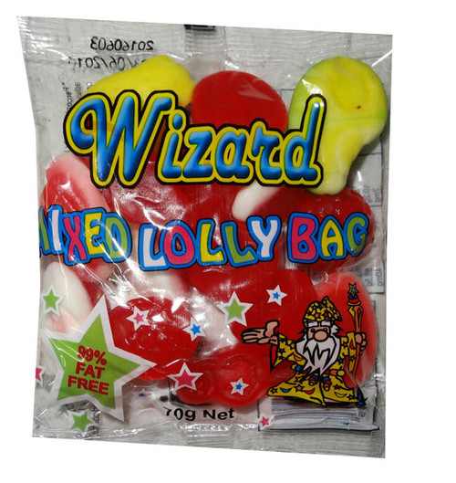 Wizard Mixed Lolly Bag, by Wizard,  and more Confectionery at The Professors Online Lolly Shop. (Image Number :6721)