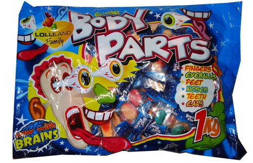 Gummi Body Parts, by Lolliland,  and more Confectionery at The Professors Online Lolly Shop. (Image Number :6701)
