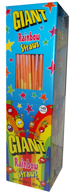 Giant Rainbow Straws, by Universal Candy,  and more Confectionery at The Professors Online Lolly Shop. (Image Number :6946)