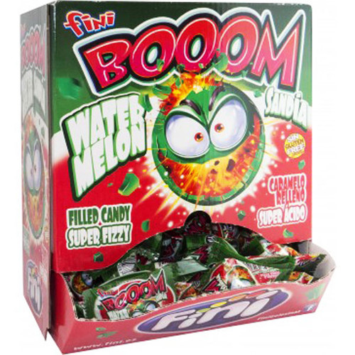 Fini Boom Watermelon Super Fizzy Bubblegum, by Fini,  and more Confectionery at The Professors Online Lolly Shop. (Image Number :6968)