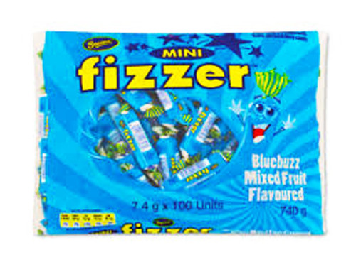Beacon Mini Fizzers - Blue Buzz, by Beacon,  and more Confectionery at The Professors Online Lolly Shop. (Image Number :7009)