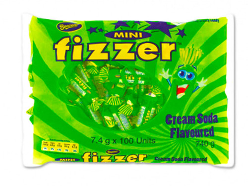 Beacon Mini Fizzers - Creaming Soda, by Beacon,  and more Confectionery at The Professors Online Lolly Shop. (Image Number :7010)