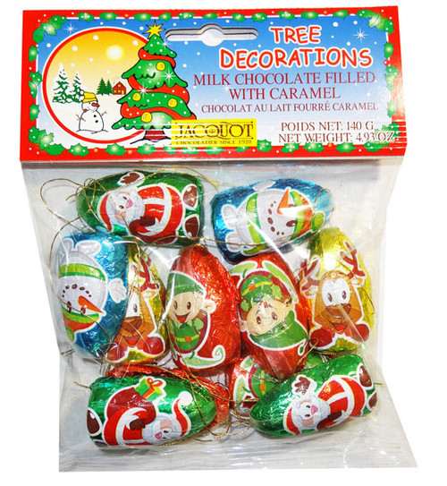 Tree Decorations - Milk Chocolate Filled with Caramel, by Jacquot,  and more Confectionery at The Professors Online Lolly Shop. (Image Number :8016)