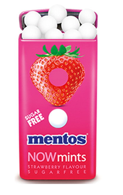 Mentos Now Mints - Sugar Free - Strawberry Flavour, by Perfetti Van Melle,  and more Confectionery at The Professors Online Lolly Shop. (Image Number :7034)