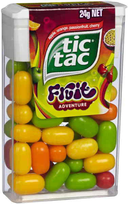Tic Tac - Fruit Adventure, by Ferrero,  and more Confectionery at The Professors Online Lolly Shop. (Image Number :7051)