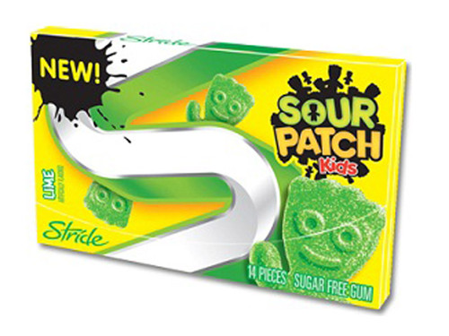 Sour Patch Gum - Lime, by Stride,  and more Confectionery at The Professors Online Lolly Shop. (Image Number :7063)