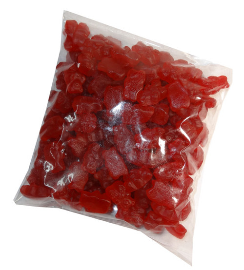 Gummi Bears Red Hot Cinnamon, by Albanese Confectionery/Other,  and more Confectionery at The Professors Online Lolly Shop. (Image Number :7400)