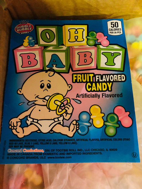 Oh Baby! Candy Pacifiers - Bulk Box and more Confectionery at The Professors Online Lolly Shop. (Image Number :14930)