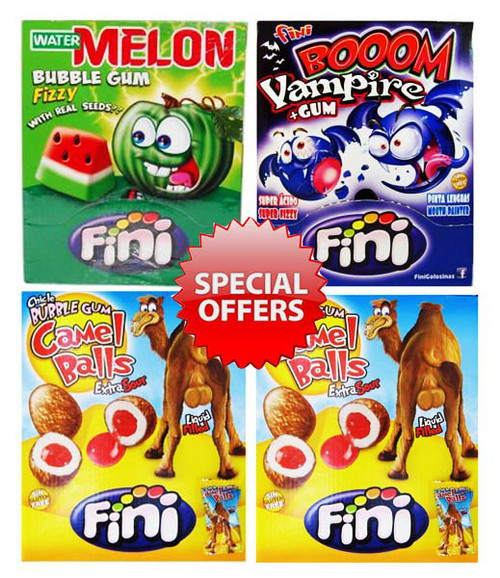 PROMO - Fini Bubblegum Pack Special, by Fini,  and more Confectionery at The Professors Online Lolly Shop. (Image Number :7757)