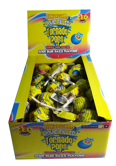Jawbreaker Liquid Filled Tornado Pops, by Confectionery Trading Company,  and more Confectionery at The Professors Online Lolly Shop. (Image Number :7223)