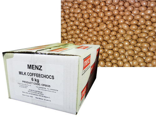 Robern Menz Milk Chocolate Coffee Beans, by Robern Menz,  and more Confectionery at The Professors Online Lolly Shop. (Image Number :7228)