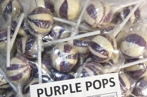 Ball Pops - Purple, by Brisbane Bulk Supplies,  and more Confectionery at The Professors Online Lolly Shop. (Image Number :7350)