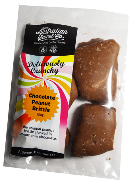 Chocolate Peanut Brittle, by The Australian Sweet Company,  and more Confectionery at The Professors Online Lolly Shop. (Image Number :7441)