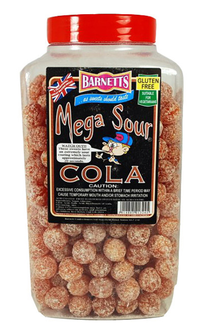 Barnetts Mega Sour Candy - Cola Flavour, by Barnetts,  and more Confectionery at The Professors Online Lolly Shop. (Image Number :7274)