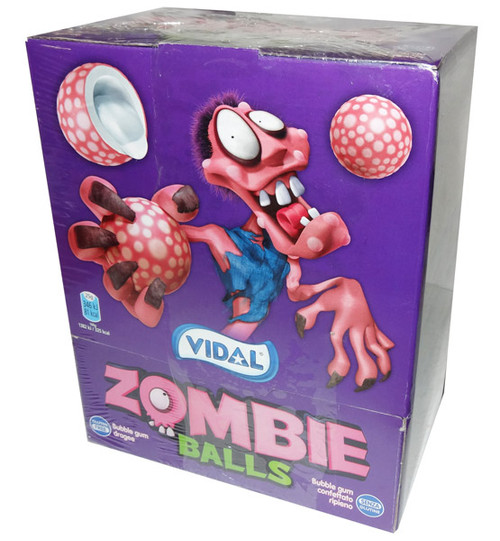 Vidal Zombie Balls Bubble Gum, by vidal,  and more Confectionery at The Professors Online Lolly Shop. (Image Number :7511)