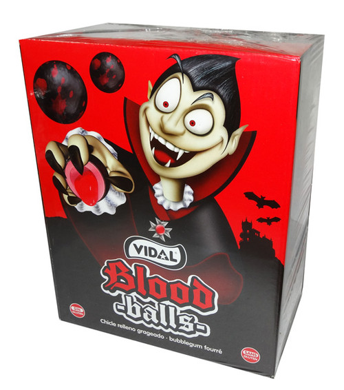 Vidal Blood Balls Bubble Gum, by vidal,  and more Confectionery at The Professors Online Lolly Shop. (Image Number :7510)