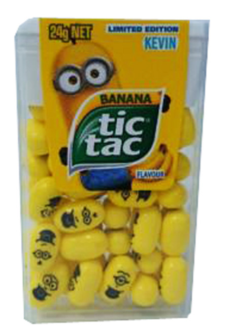 Tic Tac - Minions, by Ferrero,  and more Confectionery at The Professors Online Lolly Shop. (Image Number :7534)