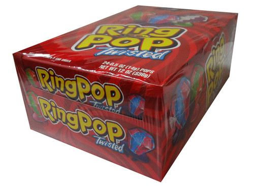 RingPop Twisted, by Myriad Marketing,  and more Confectionery at The Professors Online Lolly Shop. (Image Number :7678)