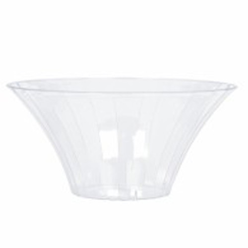 Clear Plastic Candy Buffet Flared Bowl - Medium and more Partyware at The Professors Online Lolly Shop. (Image Number :7572)
