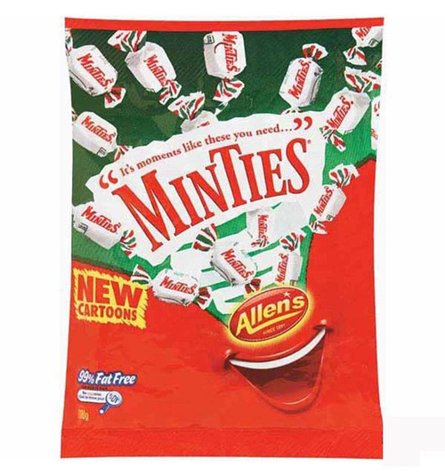 Allens Minties, by Allens Confectionery,  and more Confectionery at The Professors Online Lolly Shop. (Image Number :7751)