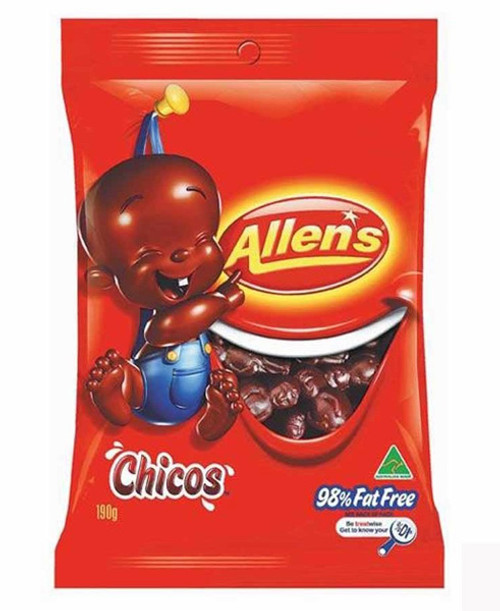 Allens Chicos, by Allens Confectionery,  and more Confectionery at The Professors Online Lolly Shop. (Image Number :7745)