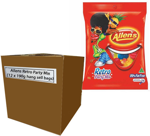 Allens Retro Party Mix, by Allens Confectionery,  and more Confectionery at The Professors Online Lolly Shop. (Image Number :7734)