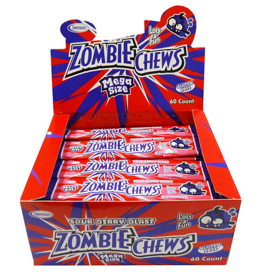 Zombie Chews - Sour Berry Blast, by Sweetmans,  and more Confectionery at The Professors Online Lolly Shop. (Image Number :8322)