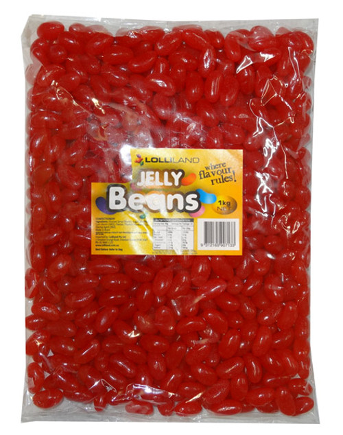 Lolliland Jelly Beans - Red, by Lolliland,  and more Confectionery at The Professors Online Lolly Shop. (Image Number :8362)