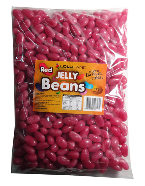 Lolliland Jelly Beans - Hot Pink, by Lolliland,  and more Confectionery at The Professors Online Lolly Shop. (Image Number :7910)