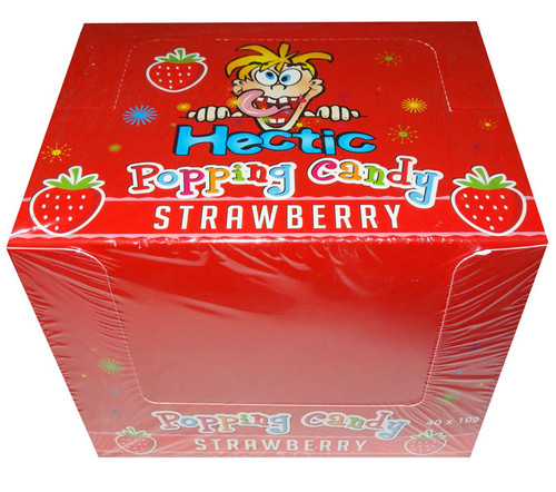 Hectic popping candy - Strawberry and more Confectionery at The Professors Online Lolly Shop. (Image Number :8182)