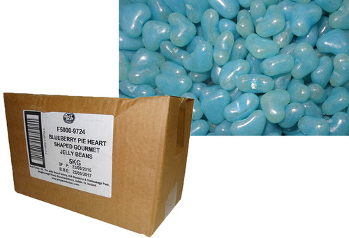 Love Heart Shaped Gourmet Jelly Beans - Blue - Blueberry Flavoured, by Other,  and more Confectionery at The Professors Online Lolly Shop. (Image Number :9918)
