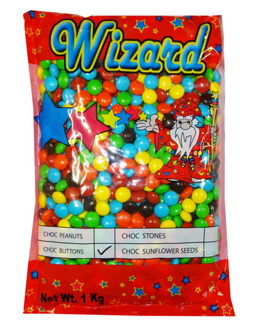Wizard Choc Buttons - multi colour, by Wizard,  and more Confectionery at The Professors Online Lolly Shop. (Image Number :8184)