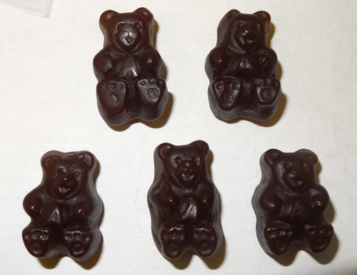 Gummi Bears Black Cherry, by Albanese Confectionery,  and more Confectionery at The Professors Online Lolly Shop. (Image Number :8060)