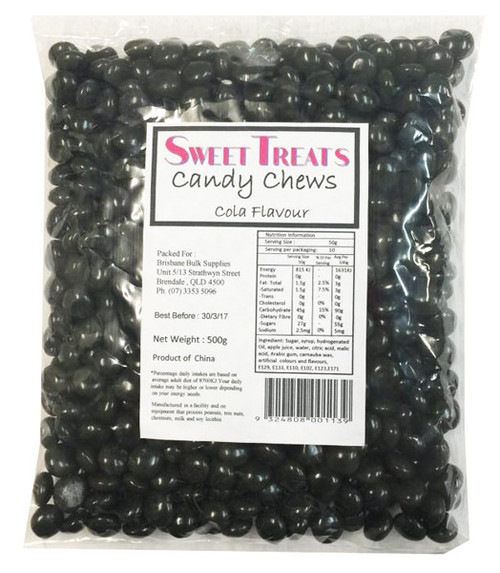 Sweet Treats Candy Chews - Black, by Brisbane Bulk Supplies,  and more Confectionery at The Professors Online Lolly Shop. (Image Number :8132)