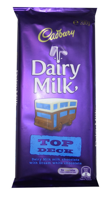 Cadbury Top Deck, by Cadbury,  and more Confectionery at The Professors Online Lolly Shop. (Image Number :8352)