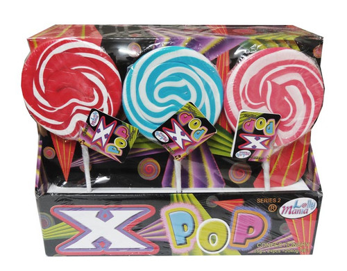 Lolly Mania X-Pops - Series 2 - Red, Blue and Pink, by Lolly Mania,  and more Confectionery at The Professors Online Lolly Shop. (Image Number :8121)