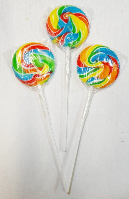 Swirl Pops - Rainbow, by Brisbane Bulk Supplies,  and more Confectionery at The Professors Online Lolly Shop. (Image Number :8267)