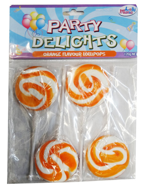 Party Delights - Orange - Orange Flavour, by Lolly Mania,  and more Confectionery at The Professors Online Lolly Shop. (Image Number :8450)