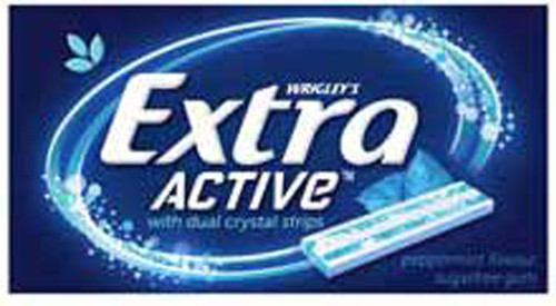 Extra Active Gum - Peppermint Flavour, by Wrigley,  and more Confectionery at The Professors Online Lolly Shop. (Image Number :8469)
