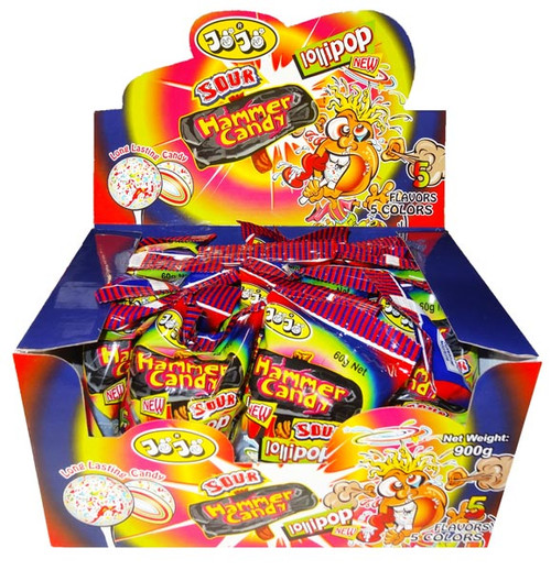 JoJo Sour Hammer Candy, by JoJo,  and more Confectionery at The Professors Online Lolly Shop. (Image Number :8385)