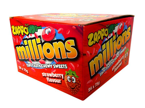 Zappo Millions - Strawberry, by Crown Confectionery,  and more Confectionery at The Professors Online Lolly Shop. (Image Number :10587)