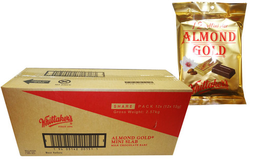 Whittakers Mini Almond Slabs, by Whittakers,  and more Confectionery at The Professors Online Lolly Shop. (Image Number :8587)