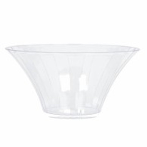Clear Plastic Candy Buffet Flared Bowl - Large and more Partyware at The Professors Online Lolly Shop. (Image Number :8510)